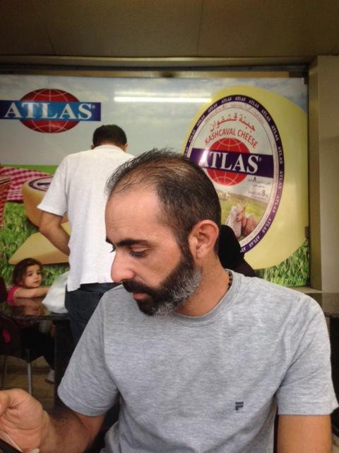 Baha, le chauffeur syrien.