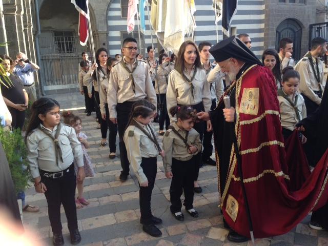 Grégoire III. Patriarche Grec-Catholique à la fête de la Dormition le 15 août.
