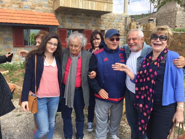 Wassim harb en compagnie du poète syro-libanais Adonis.